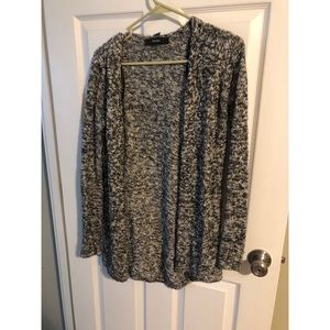 Forever21 black and White Knit Cardigan